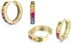 Rainbow Crystal Hoops Made with Swarovski Elements by Elements of Love