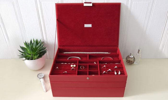 schmuck box mit 3 schubladen groupon goods. Black Bedroom Furniture Sets. Home Design Ideas