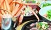 創作ダイニング 咲庵 - 創作ダイニング 咲庵: 31%OFF【2,750円】日本海直送の蟹など贅沢に≪紅ズワイガニのバケツ盛り・厚切りステーキなど9品+飲み放題120分≫ @創作ダイニング 咲庵