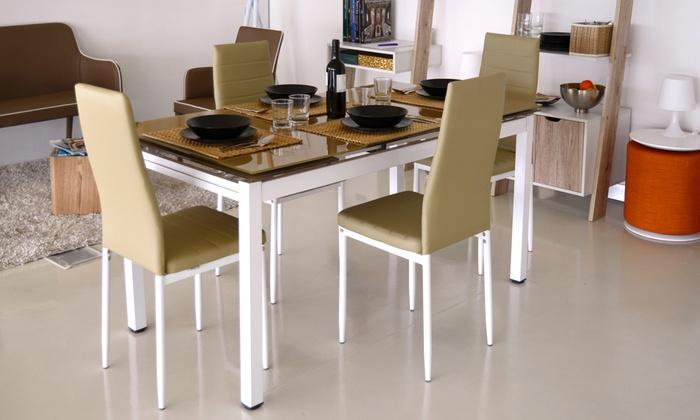 Set tavolo allungabile e 4 sedie disponibile in 2 colori a 249 </p>                     </div>                     <div id=