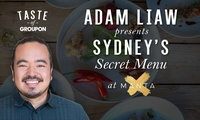 Adam Liaw's Exclusive Secret Menu - Manta Restaurant & Bar: Waterfront 4 Courses + Glass of Chandon for Two ($130)