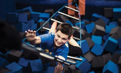 image for Two 60-Minute Jump Passes for Indoor Trampolining at Sky Zone, Valid Monday–Friday or Any Day (Up to 50% Off)