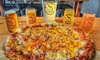 Pizza and Take Home Souvenir Glasses for Four: Valid Anytime