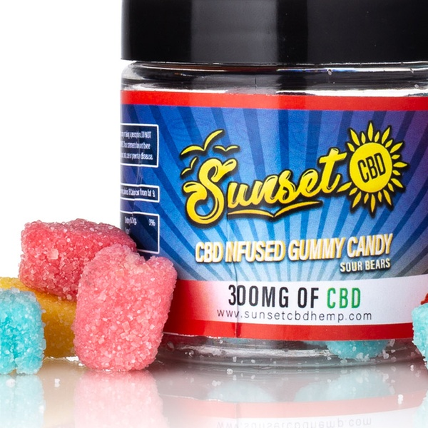 CBD-Infused Gummy Candies from Sunset CBD