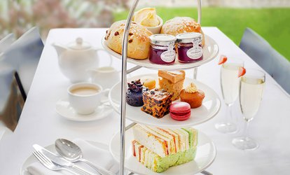 image for Traditional or Vegetarian Afternoon Tea with Optional Glass of Prosecco for Two or Four at Hilton York (Up to 53% Off)