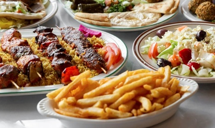 Mediterranean Food and Drinks for Takeout at Taste of Jerusalem Cafe (Up to 18% Off). Two Options Available.