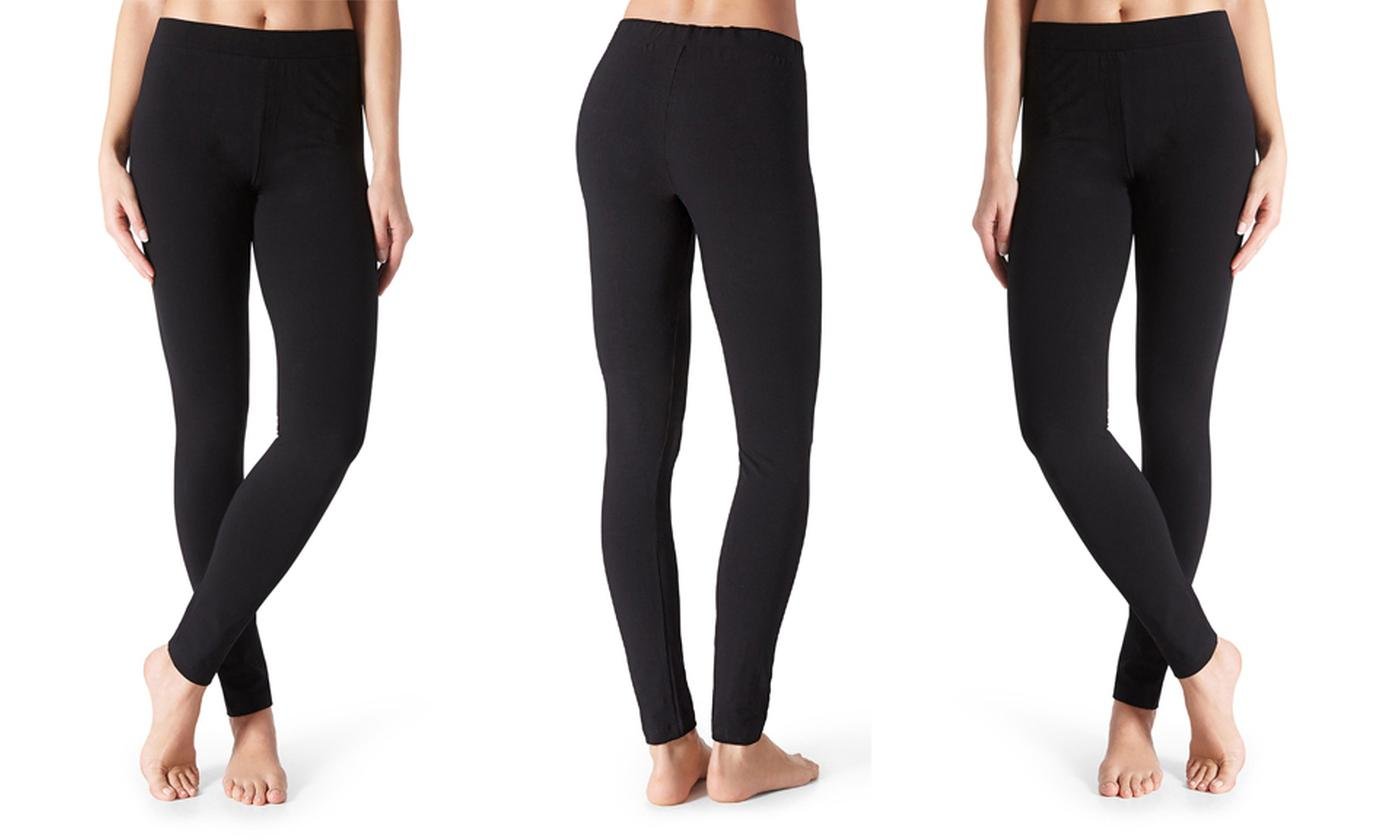 Three or Five Pairs of Women's Thermal Fleece Leggings
