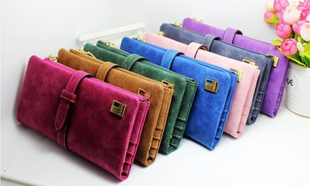 One or Two Women's Faux Suede Leather Wallets