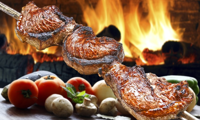 Cowboy Brazilian Steakhouse - Charleston - Charleston Farms: Rodizio Dinner with Wine for Two or Four at Cowboy Brazilian Steakhouse (Up to 30% Off)