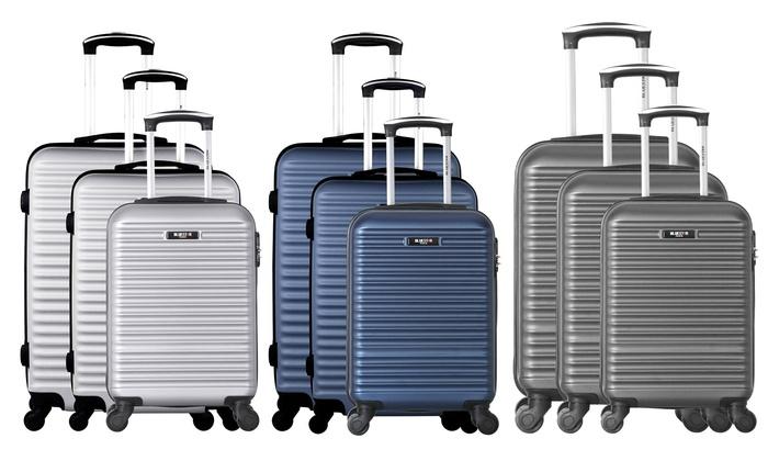 Bluestar Three-Piece Brazilia Suitcase Set