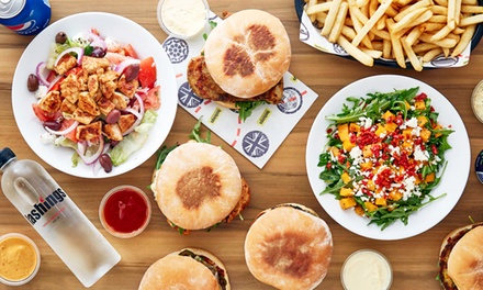 Any Burger with Large Chips and Drink for One $10, Two $18 or Four People $34 at Lashings Up to $86.80 Value