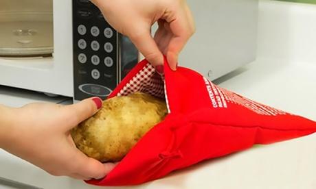Bolsa reutilizable para cocer patatas en microondas