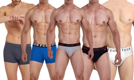 Five-Pack Assorted FCUK Underwear Bundles: Trunks ($39) or Briefs ($39.95)