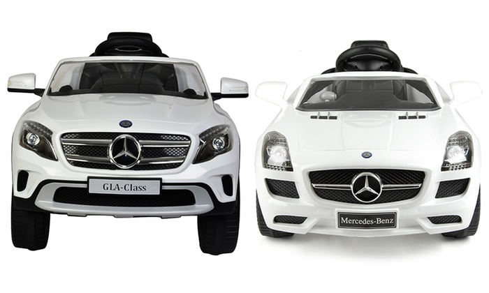 Mercedes benz electric ride on groupon goods for Mercedes benz family discount