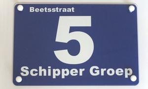 Sprookjesatelier (BE): Gepersonaliseerde huisnummerbord in verschillende kleuren en maten vanaf €16,99