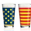 Americana Stars and Stripes Assorted Pub Glasses (4-Pack)