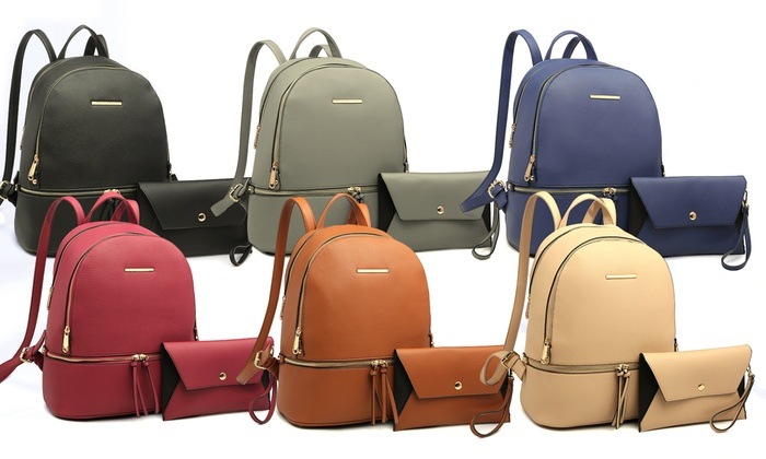 c81c93f027bc7a MK Belted Collection Vegan Leather Set (2-Piece) | Groupon