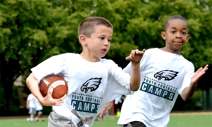 Philadelphia Eagles Youth Football Camps - Multiple Locations: Philadelphia Eagles Non-Contact Instructional Youth Football Camps, 5-Day Full or Half Day, Ages 6-14. 14 Locations.