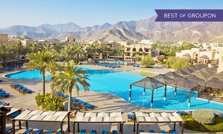 Fujairah: 1 or 2 Nights for Two with Breakfast or Half Board at 5* Iberotel Miramar Al Aqah Beach Resort