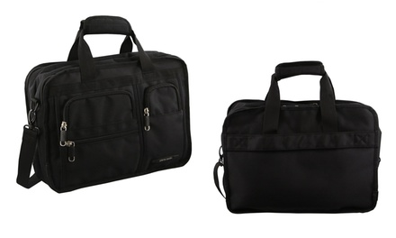 $39 for a Unisex Pierre Cardin Ballistic Nylon Computer Bag in Black (Don't Pay $99.95)
