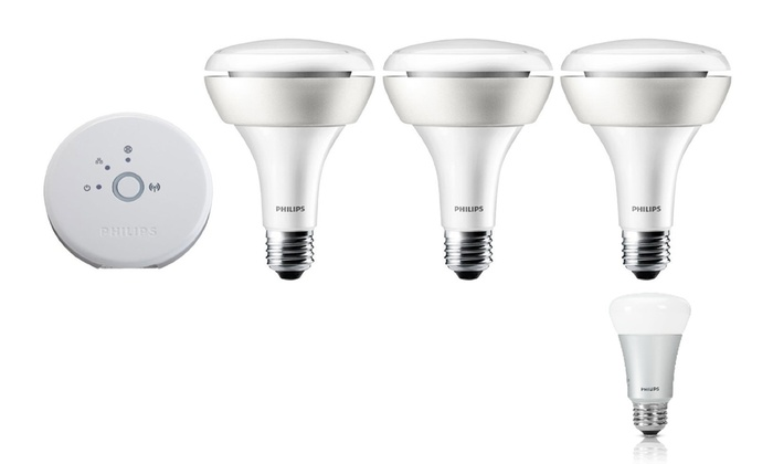 Philips Wireless Color-Changing Lighting Starter Kit with Bonus Bulb (Manufacturer Refurbished)
