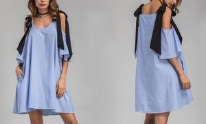 Robe tunique ample rayée zoé