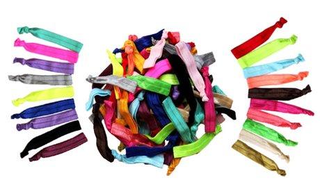 Rainbow Ribbon No-Damage Hair Ties (60-Count)