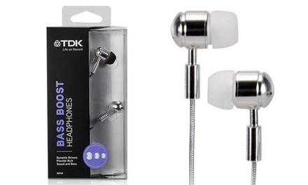 Écouteurs chromés TDK Bass Boost