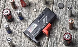 1,2 ou 4 testeurs universels de piles, modèle BT-168
