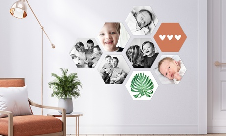 Korting Jouw foto's op hexagon