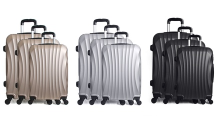 Set de 3 valises Moscou en ABS avec pèse bagages offert, coloris au choix, à 99,99€