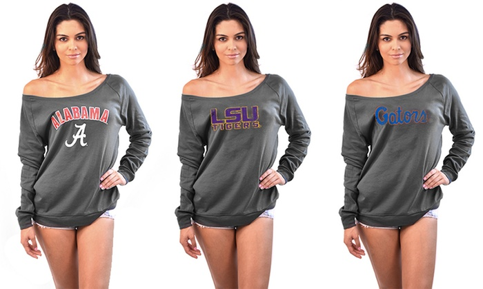 NCAA Women's Off-the-Shoulder Long-Sleeve Tee