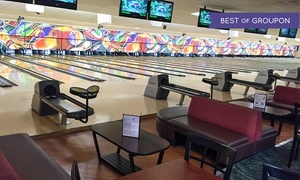 Strikers Family Sportscenter: $35 for Two-Hours of Bowling for Up to Five with a Large Pizza (Up to $74.15 Value)