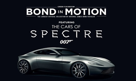 Bond in Motion Tickets, 18 July–8 September at London Film Museum Up to