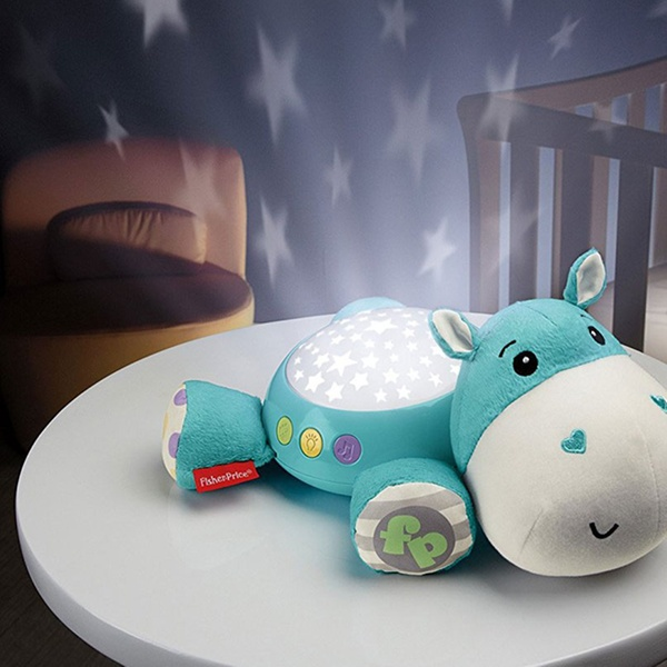 One or Two Fisher-Price Hippo Plush Projector Soothers