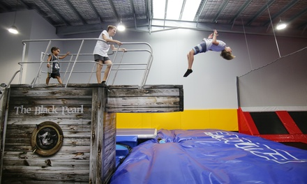 One-Hour Pass for One ($12), Two ($24) or Three People ($36) at Jummps Indoor Trampoline Park (Up to $57 Value)