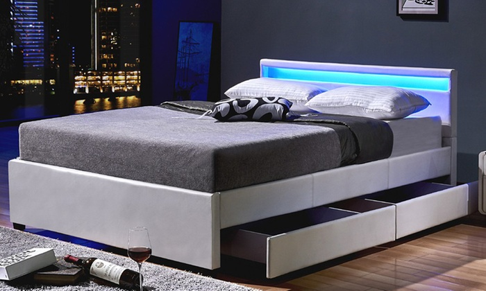 Home Deluxe Bett Mit Led Leuchte Groupon