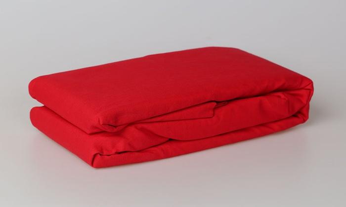 Drap housse 100 coton groupon shopping for Taille drap housse