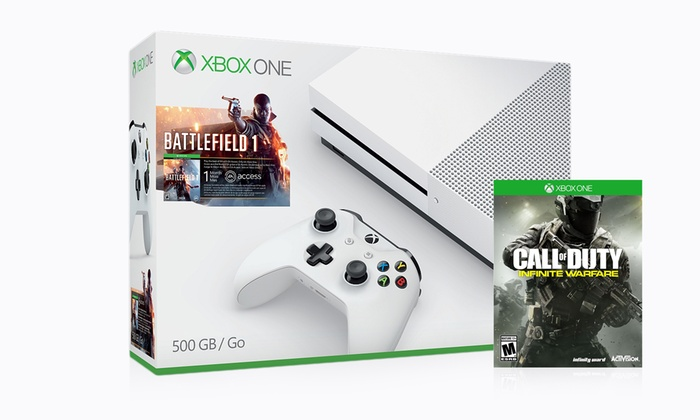 Xbox One S 500GB Console Bundle with Battlefield 1 and Call of Duty: Infinite Warfare