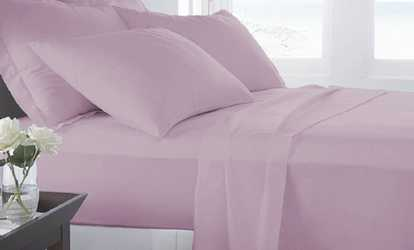Shop Groupon Microfiber Luxury Home Ultra Soft Sheet Set (6 Piece)