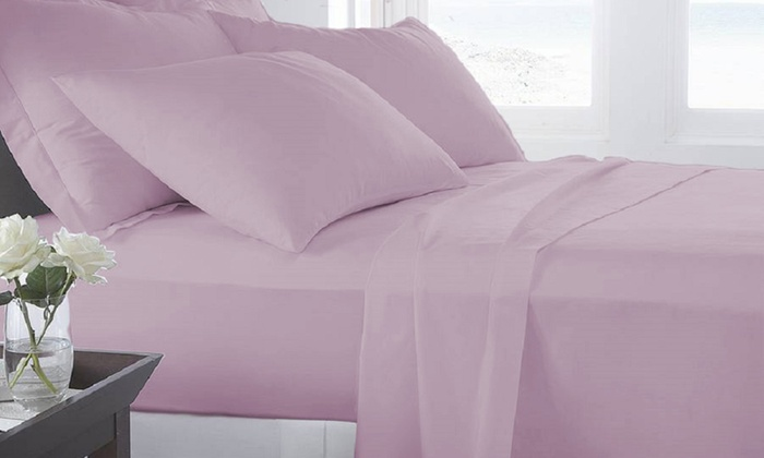 Microfiber Luxury Home Ultra Soft Sheet Set 6piece: Printed Microfiber Sheet Set Purple Bed At Alzheimers-prions.com