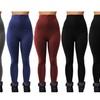 Women's Zippered High-Waisted Fleece Leggings (6-Pack)