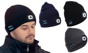 (Mode)  Bonnet 3en1 Bluetooth et lampe -99% réduction