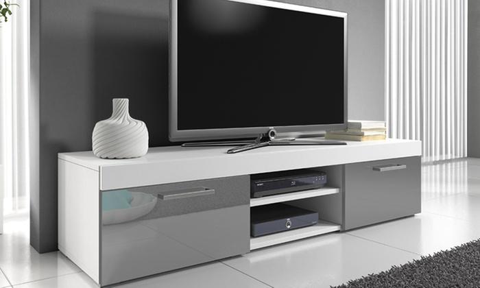 meuble tv laqu groupon shopping. Black Bedroom Furniture Sets. Home Design Ideas