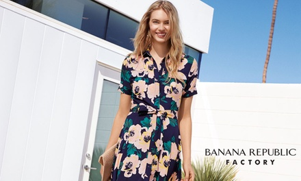 $30 for $50 at Banana Republic Factory Stores