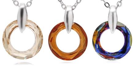 Halskette mit Anhänger verziert mit Kristallen von Swarovski® in der Farbe nach Wahl (67% sparen*)