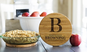 27f9a35ea6 Shop Groupon Up to 53% Off Personalized Solid Bamboo Trivets from Qualtry