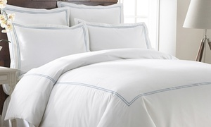 600TC Cotton-Rich Double-Marrow Duvet Cover Set (3-Piece)