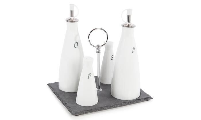 Oil Amp Vinegar Salt Amp Pepper Set Groupon Goods