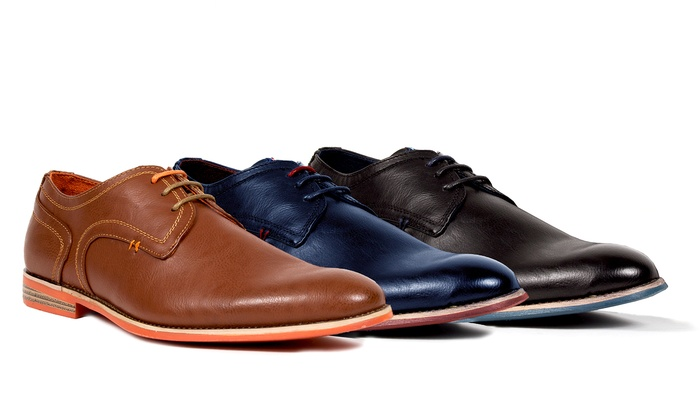 Tony's Casuals Men's Plain-Toe Derby Shoes